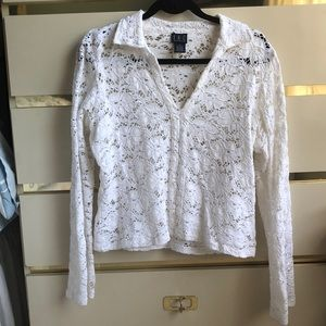 Gorgeous white lace dress top